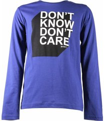 """don't know don't care"" logo detail t-shirt"