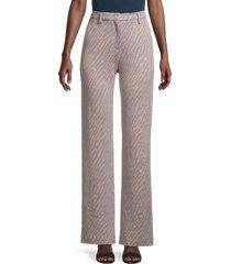 m missoni women's animal-print high-rise pants - peach - size 38 (2)