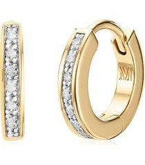 gold skinny diamond huggie earrings diamond