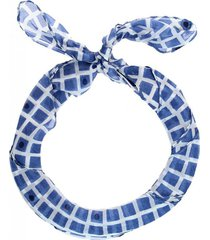 bandana seda rombos azul humana