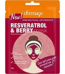 máscara facial dermage resveratrol & berry 10g