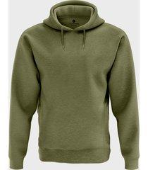 męska bluza z kapturem melanżowa (gładka, zielona)