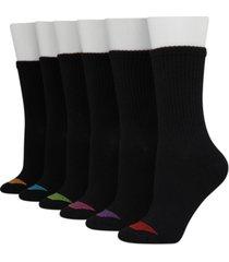 hanes women's 6-pk. ultimate core lightweight crew socks