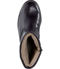 skor med foder av ren ny ull klingel svart