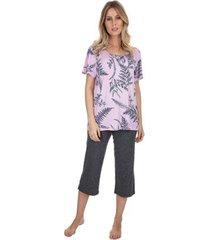 pijama capri garden feminino
