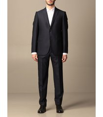 emporio armani suit emporio armani single-breasted suit in wool and silk 270 gr