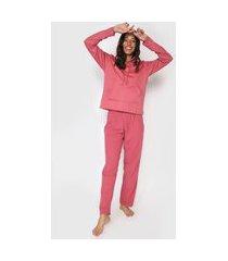 pijama malwee liberta canelado rosa