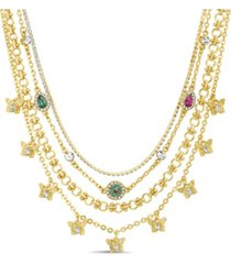 4-row layered necklace