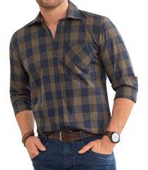 camisa frame verde para hombre croydon