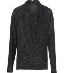 maglia a maniche lunghe in lurex (nero) - bodyflirt