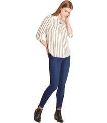legging tipo jean azul