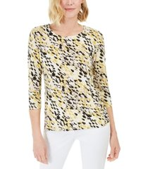 jm collection petite dot-print top, created for macy's