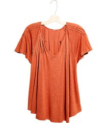 women's free people lovely day t-shirt, size x-large - brown