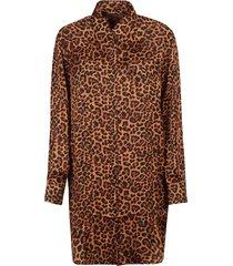 laneus leopard print coat