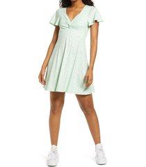 women's bp. twist front knit dress, size small - green