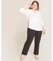 blusa manga  3/4 estampada rayas