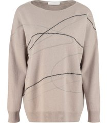 fabiana filippi wool, cashmere and silk blend sweater