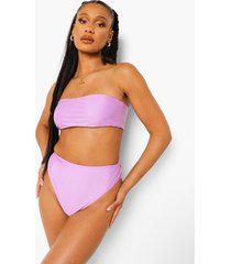 essentials high leg high waist bikini brief, bright lilac