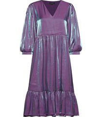slfstacy 3/4 midi dress b jurk knielengte paars selected femme