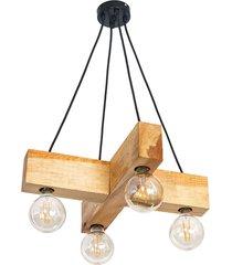 lampa wisząca dalwik loft drewno