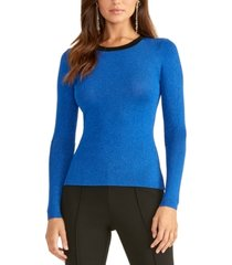 rachel rachel roy metallic ringer pullover sweater