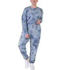 black tape plus size tie-dyed jogger pants