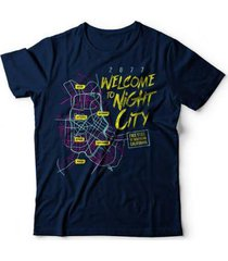 camiseta cyberpunk night city - unissex