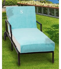 linum home personalized 100% turkish cotton chaise lounge cover bedding