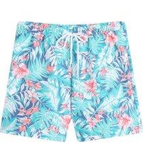 bermuda para hombre playa flores hawaianas