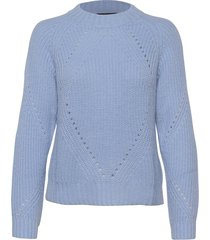 fuzzy knit with cable stitches gebreide trui blauw scotch & soda