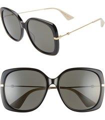 women's gucci 57mm square sunglasses -