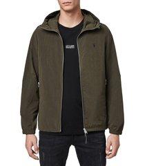 men's allsaints fursdon slim fit jacket, size large - green