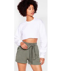 womens tie can't get enough belted relaxed shorts - khaki
