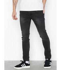 only & sons onswarp black washed ld pk 0899 noo jeans svart