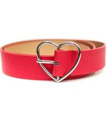 cinturon hebilla de corazon rojo guinda