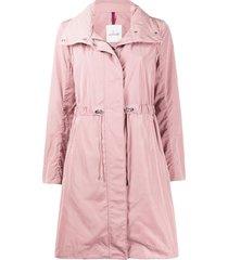 moncler funnel-neck drawstring-waist coat - pink