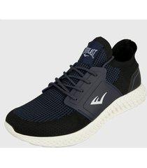 tenis lifestyle azul navy-negro-blanco everlast fabrex