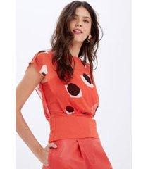 blusa sobreposição ggt stones est stones fundo vermelho raspberry