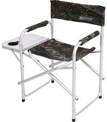 cadeira para camping ntk dobrável e com mesa lateral e porta copos diretor camuflado .