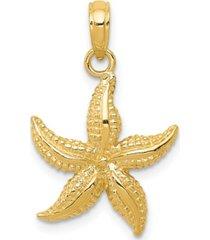 starfish pendant in 14k yellow gold