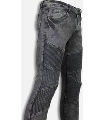 justing exclusieve biker jeans grijs