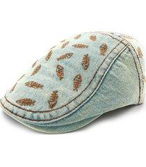 cappellino in denim da uomo in cotone con ricamo berretto in cotone per uomo