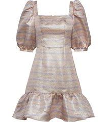 faye dress kort klänning beige by malina