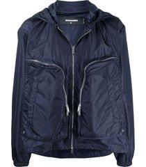 dsquared2 blue lightweight jacket