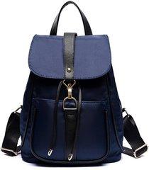 mochila casual mujeres- otoño e invierno hombro bolsa-azul