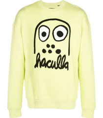 haculla monster drop shoulder sweatshirt - green