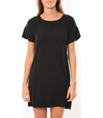 korte jurk vero moda reba ss mini dress 10100945 noir/bleu