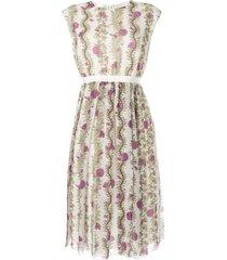 giambattista valli floral print day dress - neutrals
