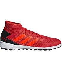 botines adidas predator tango 19.3 futbol cesped artificial hombre rojo
