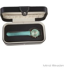 mind reader portable watch case, holds 1 single watch in a convenient travel case
